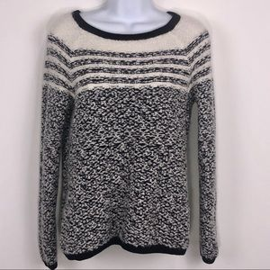 Lou & Grey Black & Cream Striped Knit sweater